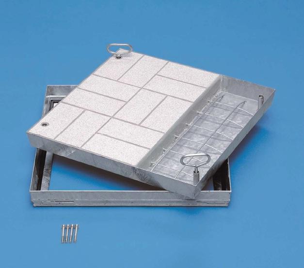 Schachtabdeckung aus stahl verzinkt für wählbare oberfläche